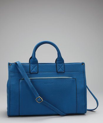 Blue Pocket Satchel