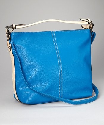 Bright Blue & Tan Tote