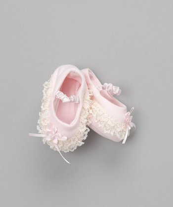 Baby Biscotti Pink Booties - Infant