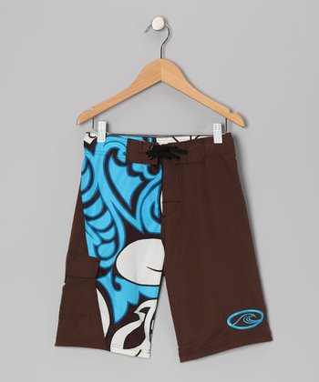 Brown Island Stoke Boardshorts - Boys