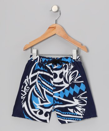 Navy Maluhia Swim Trunks - Toddler