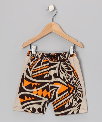 Tan Maluhia Swim Trunks - Toddler