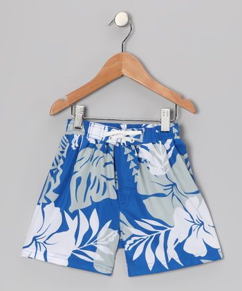 Blue Kalihi Swim Trunks - Toddler