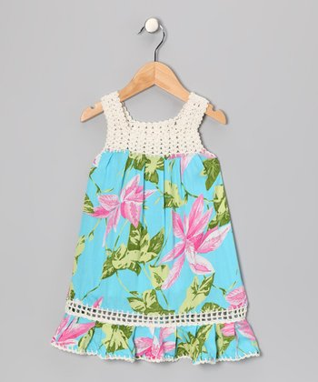 Turquoise Coral Dress - Toddler