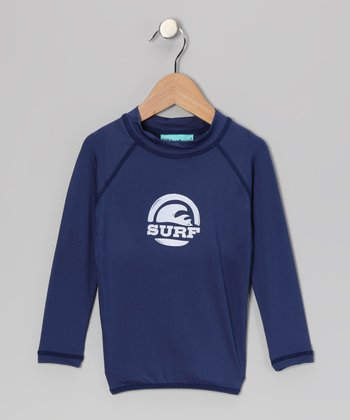 Navy Maui Long-Sleeve Rashguard - Toddler
