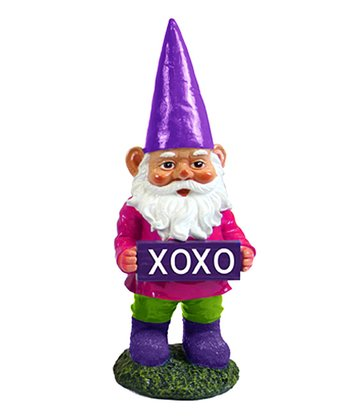 Navy Blue 'XOXO' Gnome Figurine