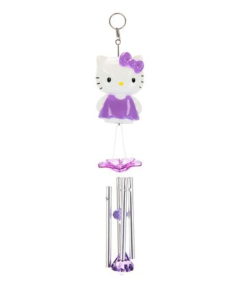Purple Hello Kitty Wind Chimes