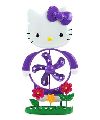 Purple Hello Kitty Spinner Statue