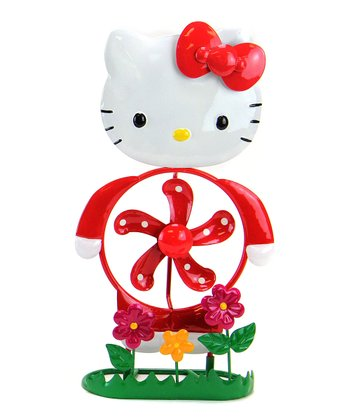 Red Hello Kitty Spinner Statue