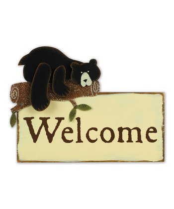 'Welcome' Wall Plaque