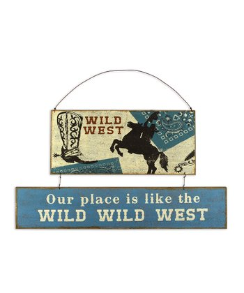 Blue Bandanna 'Wild Wild West' Wall Art
