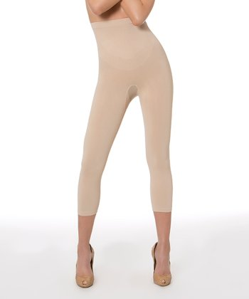 Nude Anti-Cellulite High-Rise Capri Leggings - Women & Plus