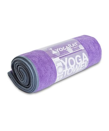 Purple & Charcoal Hot Yoga Towel