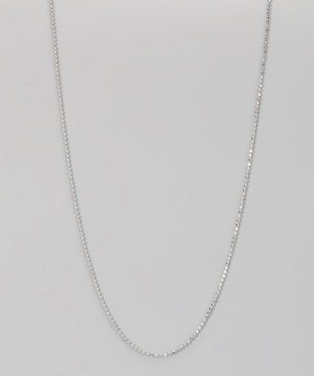 Sterling Silver 1-mm Diamond Cut Bead Chain