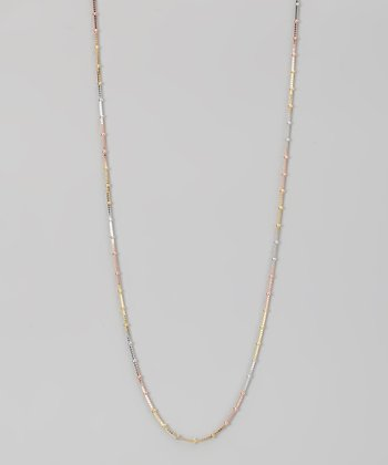 Sterling Silver Tricolor 1-mm Box & Mirror Chain