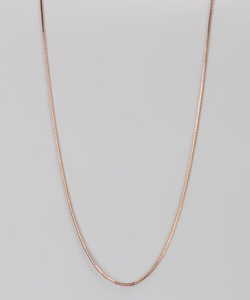 Rose Gold & Sterling Silver 4-mm Cuban Chain