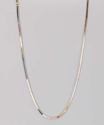 Sterling Silver & Gold Tricolor 4-mm Love Chain