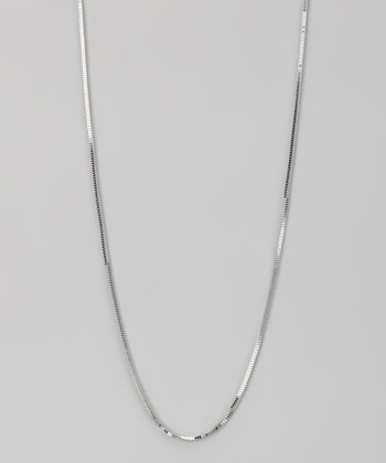 Sterling Silver 1.2-mm Square Milano Chain