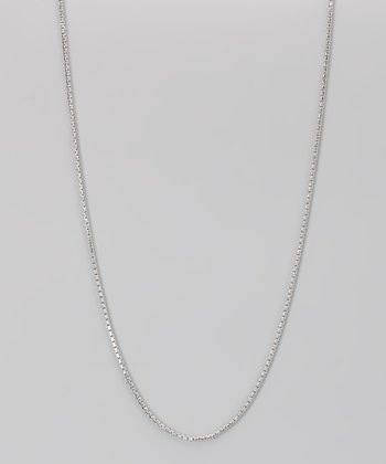 Sterling Silver 1.5-mm Diamond Cut Round Box Chain