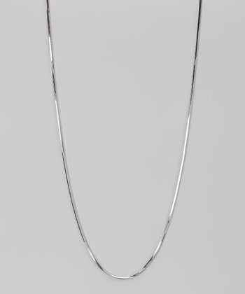 Sterling Silver 1-mm Square Snake Chain