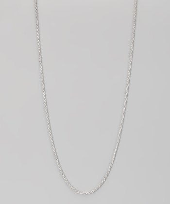 Sterling Silver 1-mm Diamond Cut Rope Chain