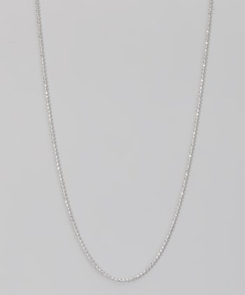 Sterling Silver 1.2-mm Diamond Cut Bead Chain
