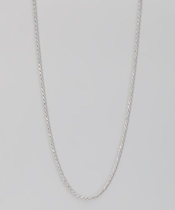 Sterling Silver 1.5-mm Diamond Cut Rope Chain