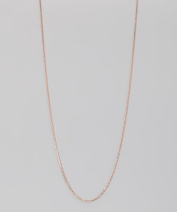 Rose Gold & Sterling Silver 1-mm Diamond Cut Cable Chain