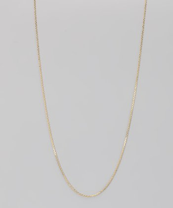 Yellow Gold & Sterling Silver 1-mm Diamond Cut Cable Chain