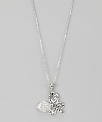 Sterling Silver Micro Pavé Cutout Butterfly Pendant Necklace