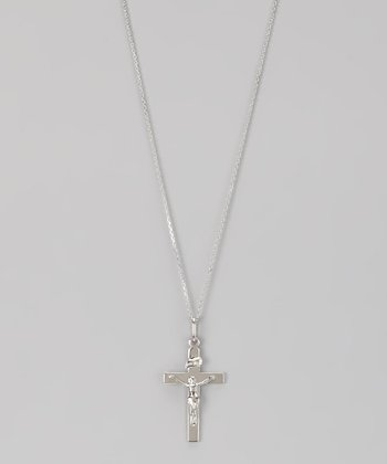 Sterling Silver Classic Crucifix Pendant Necklace