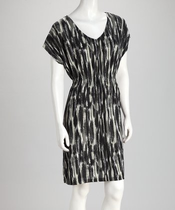 Black & Gray Abstract Dress
