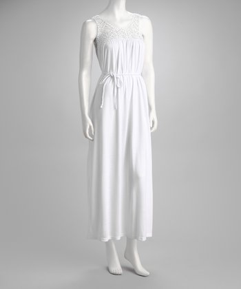 White Crocheted Lace Dress