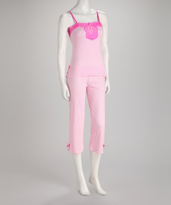 Pink & Fuchsia Mini Heart Pajama Set