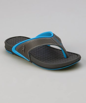 Gray & Blue Rider Revolution Flip-Flop - Kids
