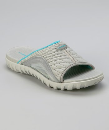 Gray & Blue Relay IV Slide - Women
