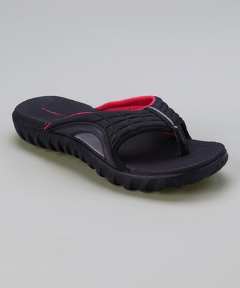 Black & Pink Relay IV Flip-Flop - Women
