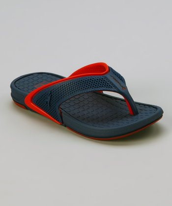 Blue & Red Rider Revolution Flip-Flop - Kids