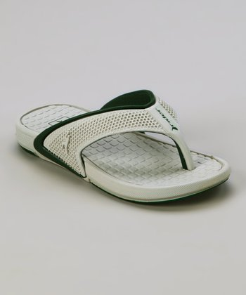 Gray & Green Rider Revolution Flip-Flop - Kids