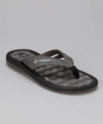 Gray & Black Dunas IV Flip-Flop - Women