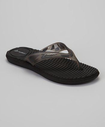Black Smoke Graphic Flip-Flop - Women