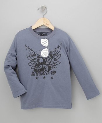 Slate Blue Aviator Tee - Toddler & Boys