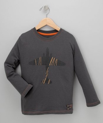 Charcoal Plane Tee - Infant, Toddler & Boys