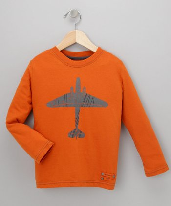 Burnt Orange Plane Tee - Infant, Toddler & Boys