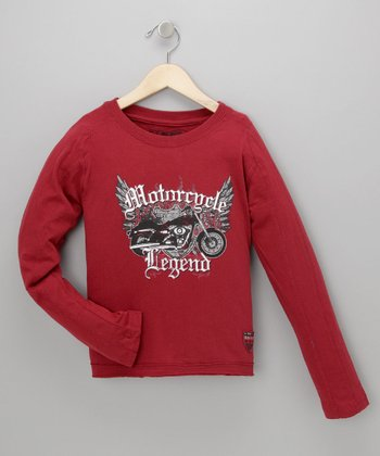 Red Motorcycle Legend Tee - Infant, Toddler & Boys