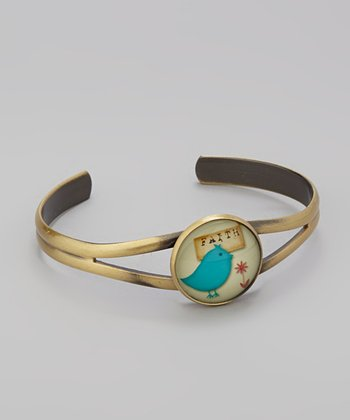 Teal Bird 'Faith' Bracelet