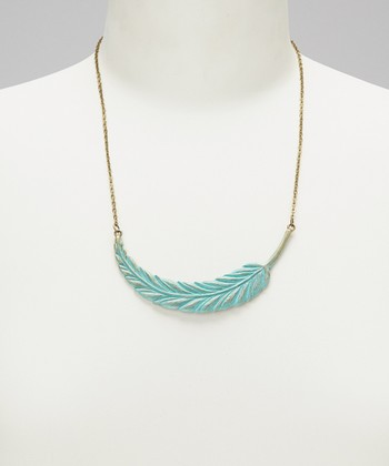 Turquoise Light As A Feather Pendant Necklace
