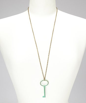 Spearmint Key Necklace