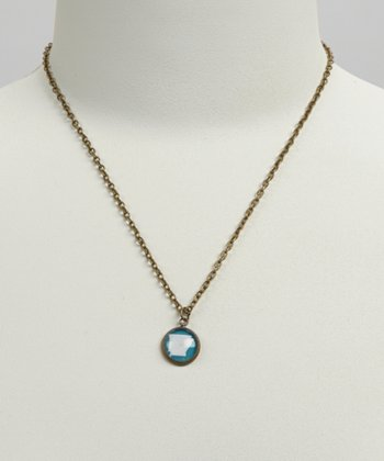 Turquoise & White Arkansas Pendant Necklace