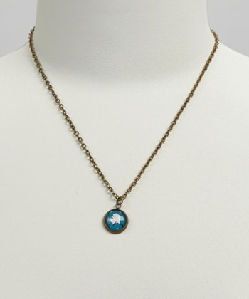 Turquoise & White Alaska Pendant Necklace